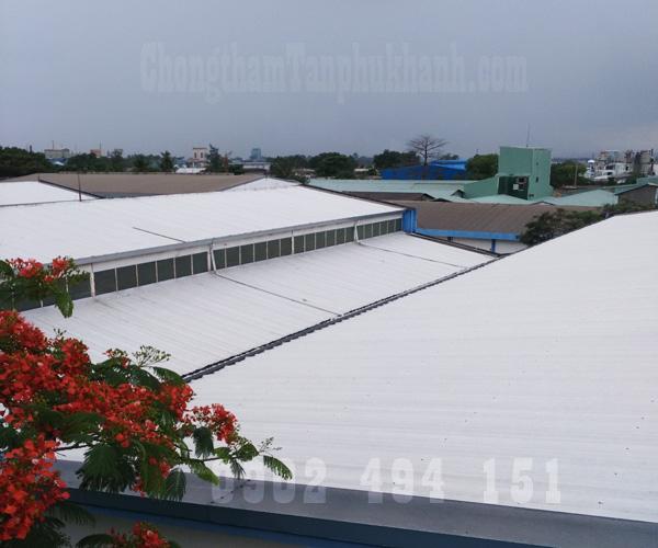 thi công chống dột mái tôn xưởng sản suất