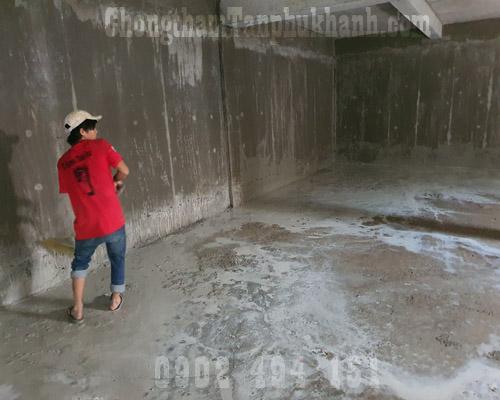 chống thấm tầng hầm bằng sika